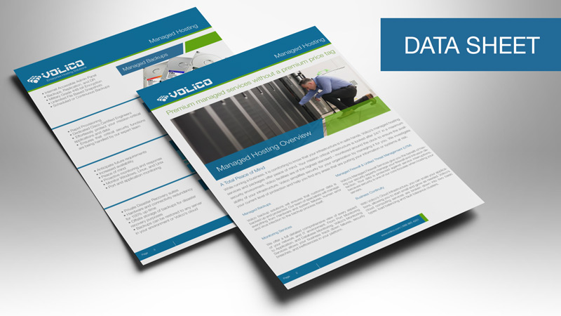 Product Datasheets | Volico Data Center